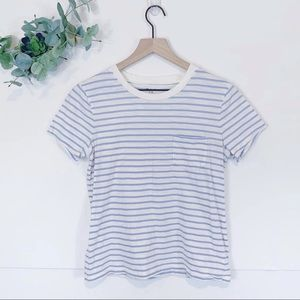 Madewell Striped Whisper Cotton T-Shirt Blue White